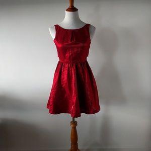 Red Metallic Dress